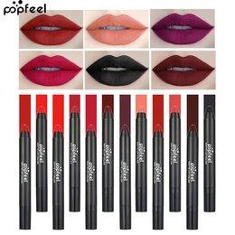 $enCountryForm.capitalKeyWord Australia - Wholesale Single 12 Color Matte Lipstick Pencil Women Lips Matte Long Lasting WaterProof Lip Stick Pen Beauty Essential Lip Makeup Cosmetics