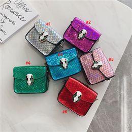 Bags Fish Scale Australia - Baby Mermaid Bags Kids Princess Purses Fashion Shoulder Bags Girls All-match Cross-body Bags Children fish scales designer Handbags