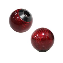 $enCountryForm.capitalKeyWord Australia - Red Carbon fiber Gear Shift Knob for AT MT Shifter Lever 3 Aadapters switching adapters Cool Funny Automobile Acessories Auto Decoration