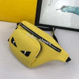 Leather smaLL waist bag for men online shopping - Chest Bag High Genuine Leather Leisure Shoulder Bags Fanny Pack for Women Girls Letter Waist Bag Packs Colors