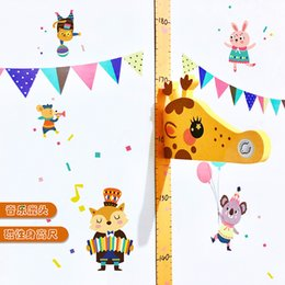 Wholesale Innovative D Magnetic Wall Stickers for Kids Room Child Height Gauge Measuring Cartoon Deer Head Ornament Baby Room Home Decor