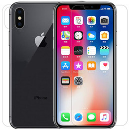 Iphone Back Glasses Australia - Front and Back Rear Tempered Glass For IPhone XR XS MAX X 10 8 Plus Screen Protector Protective Film Transparent Without Package