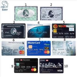 Wholesale Real Capacity Bank Card USB Memory stick HSBC Master Credit card USB Flash Drive 64gb Pendrive 4GB 8GB 16GB 32GB pen drive 128gb