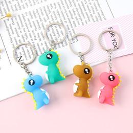 Cartoon 3d Movie Australia - Fashion 3D Cartoon Dinosaur Baby Cute Keychain Jewelry Bag Car Pendant Keyring Accessories For Women Child Gift