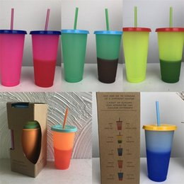 Universal change online shopping - Sensitive Temperature Magic Tumblers Drinking Plastic Color Changing Cups Mugs Universal Sell Well With Different Style yj J1