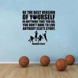 $enCountryForm.capitalKeyWord Australia - Vinyl Wall Sticker Basketball Stephen Curry Quote Wall Sticker Removable Basketball Players Vinyl Sports Wall Decals