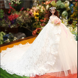 Wedding Gift Party Gift Birthday Gift For Girls Brides Lovely Wedding Dresses Dolls Cheap Price 2019 from passport document wallet manufacturers