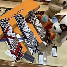 2019 New Design Seta BORSA Borsa sciarpa fasce Nuove marche donna scraves 100% Top qualità sciarpa di seta Bande per capelli 5 * 120 CM shippin libero