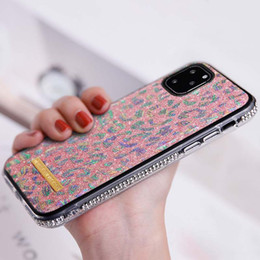 10 x max iphone Australia - Pink Glitte Luxury Designer Phone Cases For Samsung Galaxy Note 10 pro s 10 plus Phone Cover For Iphone 11 pro x s r max 6 s 7 8 plus B0403