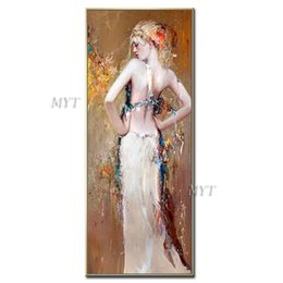 Oil paintings girls online shopping - Abstract Oil Painting Girls Pictures Sexy On Canvas Modern Wedding Decor Wall Pictures Home Decoration Handpainted Unframe