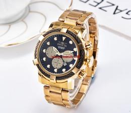 $enCountryForm.capitalKeyWord Australia - Big dial invicta Working Chronograph Luxury Watches Men Watch Top Brand Silicone tape Quartz Wrist Watch cfoR Men gift relojes