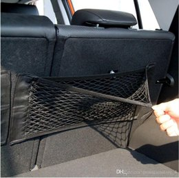$enCountryForm.capitalKeyWord Australia - Super Big Size 50cm x 25cm Auto Seat Back Storage Mesh Net Bag Car Magic Sticking Holder Pocket Trunk Organizer (Retail