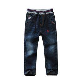 $enCountryForm.capitalKeyWord Australia - High quality Children Jeans Classic Solid Color Elastic Waist Cotton Denim Boys Jeans pants For kids wear