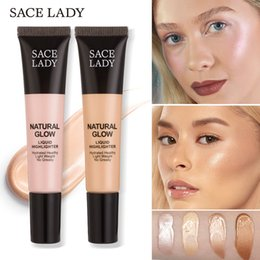 Face Glow Cream Australia - SACE LADY Face Glow Liquid Highlighter Shimmery Glow Shine Body Face Makeup Iluminador Gold Liquid Eye Contour Makeup Brightener