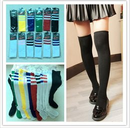 football cheerleading NZ - Fashion trend cotton high socks Soccer baby cheerleading dance sports knee socks