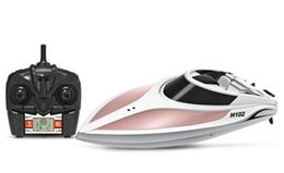 $enCountryForm.capitalKeyWord NZ - Upgraded H102 More 28km h Remote Control RC High Speed Racing Boat 2.4G 4CH With LCD Screen gift Toys Gift VS ft012 ft009 ft0110