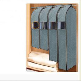 $enCountryForm.capitalKeyWord Australia - Wholesale- Large Capacity Cloth Hanging Suit Coat Dust Cover Wedding Dress Hanging Bags Organizer Storage Bag Wardrobe Storage Bag