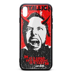 $enCountryForm.capitalKeyWord Australia - IPhone X Case,iPhone XS Case Metallica demon loud rocking fast 9H Tempered Glass Back TPU Bumper Drop Protection Phone Case