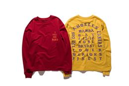 2019 Mi sento come Kobe T-shirt uomo Kobe in pensione per commemorare Mamba T-shirt Hip Hop Sport T-shirt Top Kanye West all'ingrosso in Offerta
