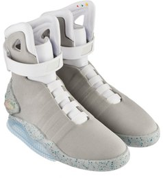 mag sneakers 2019 - Automatic Laces Air Mag Sneakers Marty McFly LED Shoes Back To The Future Glow In The Dark Gray Boots McFlys Sneakers Wi