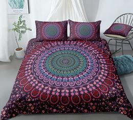 $enCountryForm.capitalKeyWord UK - Thumbedding Dropship Daisy Flowers Bedding Sets King Size Bohemia Design 3D Duvet Cover Set 100% Microfiber Colorful Bed Set