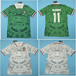 4aba499f967 Top 1998 Mexico Retro Jerseys Classic Vintage Soccer jersey Home Away  HERNANDEZ 98 football shirt BLANCO maillot de foot