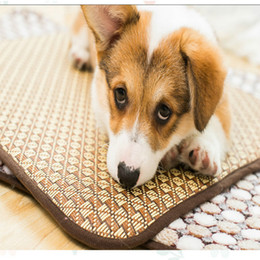 $enCountryForm.capitalKeyWord NZ - Summer pet supplies double-sided mat multi-color bamboo and rattan weaving cool comfortable bite-resistant ice pad factory direct
