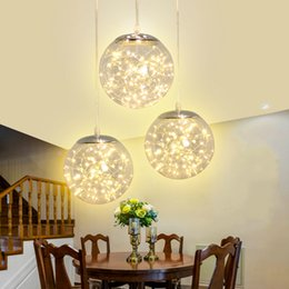 Home Light Deco Australia - Norbic creative clear glass ball pendant lighting fixture home deco dining room loft glowworm LED String pendant lamp