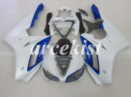 triumph 675 blue white fairing 2020 - New ABS Injection Mold Motorcycle Fairings Kit Fit for Triumph Daytona 675R 675 2006 2007 2008 06 07 08 Custom White Blu