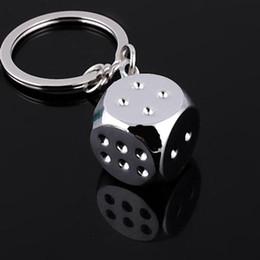 $enCountryForm.capitalKeyWord Australia - Metal Personality Dice Keychain Alloy Super Deal New Creative 1 Pcs Key chain For Car Key Ring Trinket