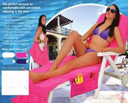 Gardening Chairs Australia - 2019 Microfiber Fiber Sunbath Lounger Bed Mate Chair Cover Holiday Leisure Garden Beach Towel Beach Towels 5 Colors