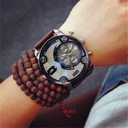Best military glasses online shopping - Blue Glass Fashion Watch Sport Military Wristwatch Relojio Best Christmas Gift Luxury Clock Large Size Dial Black Leather Quartz Men Watches