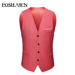 e0abf332559a6 White suit orange Waistcoat online shopping - Poshawn men s new large suit  vest slim professional