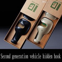 Toptan satış Araba İç Askı gizli Hook İçin Reçine Araba Koltuk Geri Asma Kancalı Oto Koltuk başlığı Askı Sundries Coat Cüzdan Çanta Organizer Tutucu
