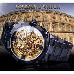 Watches Luxury Skeleton Man Australia - FORSINING Automatic Mechanical Wrist Watches Men Fashion Luxury Steel Band Roman Numerals Skeleton Transparent Dial Man Watch SLZe147