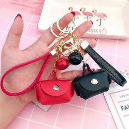 $enCountryForm.capitalKeyWord Australia - Cute Small HandBag Purse Bag Buckle Pendant Key Chain Ring House Car Leather Key Holder Souvenirs Gift