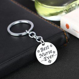 electronic gifts for men Australia - 12PC Wholesale Best Nurse Ever Star Stainless Steel Keyring Keychain Gift For Friend Family Women Men Love Nurse Charm Jewelry