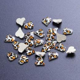 Crystal Gems Australia - 10pcs 3D Crystal Glass Leopard Print Flatback Rhinestones For Nail Gems DIY Tool in Art Decorations Fan Diamond Heart SA938