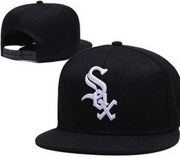White sox hats online shopping - Top Quality Cheap Snapback Caps classic Letter LOGO Training Camp Baseball Cap Embroidered Team Size Flat Brim White Sox Hat Baseball Cap