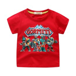 Girl Games Babies Australia - 2019 Boys Girls Summer T-shirts Cartoon Gormiti Game Print Tees Top For Kids Clothing Children Tshirt Costume Baby T Shirt