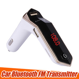 FM Transmitter S9 Bluetooth Car Kit HandsFree FM Radio Adapter LED Car Bluetooth Adapter Support TF Card AUX Input Output with Retail Box on Sale