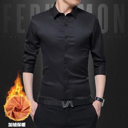 $enCountryForm.capitalKeyWord Canada - Winter Warm Plush Thick New Mens Shirt Slim Fit Fashion Long Sleeve Casual Business Shirts Men Dress Shirts High Quality Camisas
