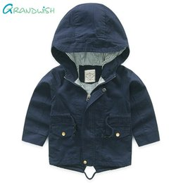 $enCountryForm.capitalKeyWord Australia - Grandwish Spring Solid Hooded Coats for Boys Children's Windproof Cotton Outerwaer Kids Long Sleeve Autumn Jacket 3T-10T, SC831