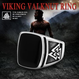$enCountryForm.capitalKeyWord NZ - Beier 316L Stainless Steel Fashion Style Odin 's Symbol high quality viking punk men Valknut Ring Christmas Party Gift LR690
