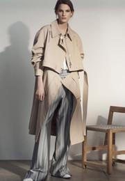 $enCountryForm.capitalKeyWord NZ - Autumn women trench coat khaki two ways top jacket and bottom skirt detachable brand customized
