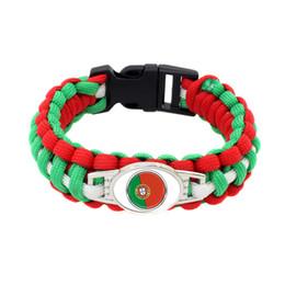 $enCountryForm.capitalKeyWord UK - 25#Fashion Portugal National Flag Survival Paracord bangle bracelet for football fans gifts