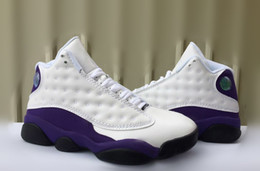 genuine white gold 2019 - Designer Sneakers New mens 13 Cap and Gown Black Cat whtie purple Grey Basketball Shoes 13s White women Chicago red XIII