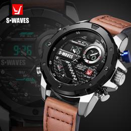 $enCountryForm.capitalKeyWord NZ - Swaves Brand Dual Display Watch Waches Water Resistant Lcd Digital Wristwatches Leather Band Quartz Men Clock Relogio Masculino Y19052103