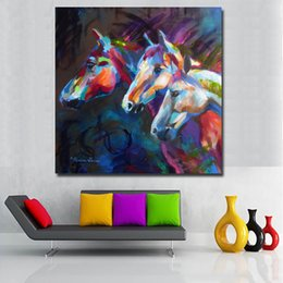 $enCountryForm.capitalKeyWord Australia - 1 Panel Canvas Painting Art Prints Animal Three Colorful Abstact Horse Head Wall Art Pictures Decorative Home Decor No Frame