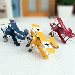 Fan Planes NZ - heap Figurines & Miniatures Vintage Iron Aircraft Model Antique Ornaments Airplane Figurines Status Metal Plane Home Garden Decoratio...